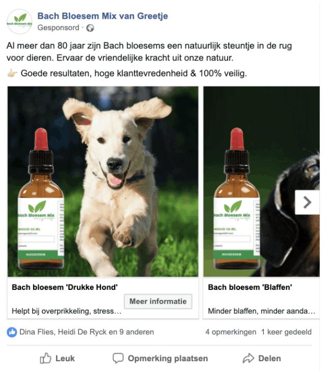 Facebook-post Bachbloesemmix
